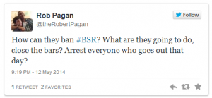 Rob Pagan Tweet