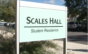 Scales Hall sign