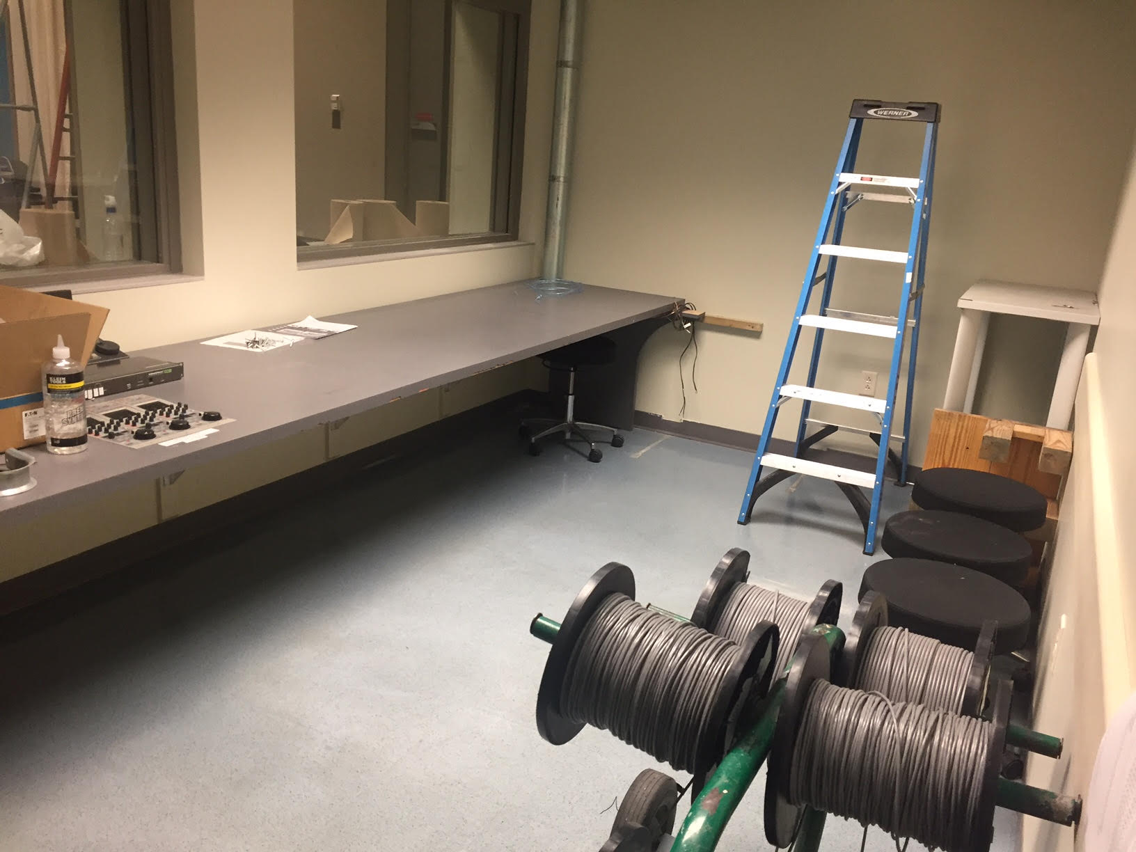 Additional cables were installed in different parts of the studio